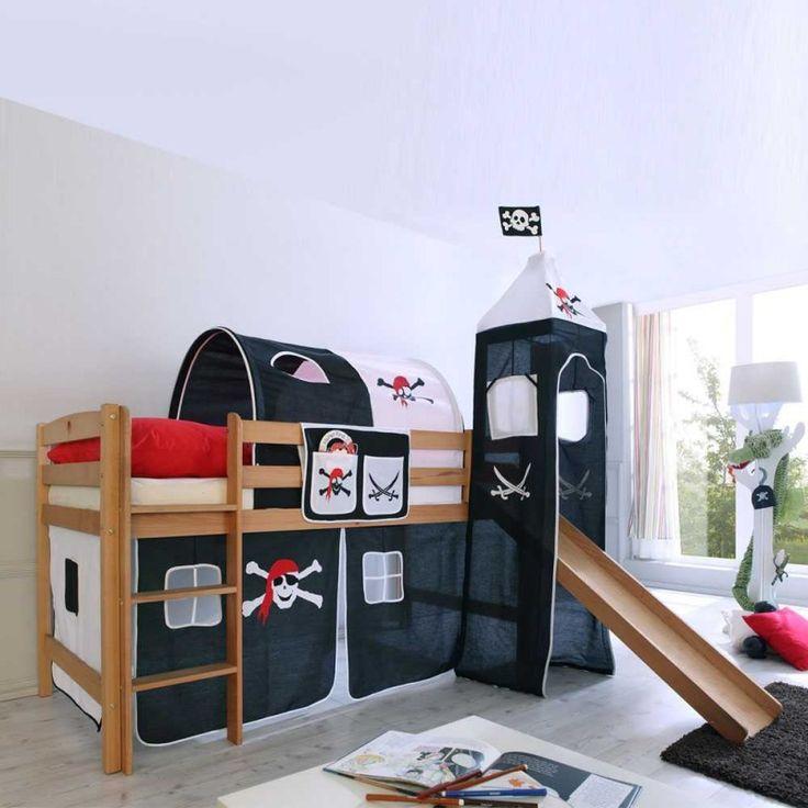ber ideen zu kinderhochbett mit rutsche auf. Black Bedroom Furniture Sets. Home Design Ideas