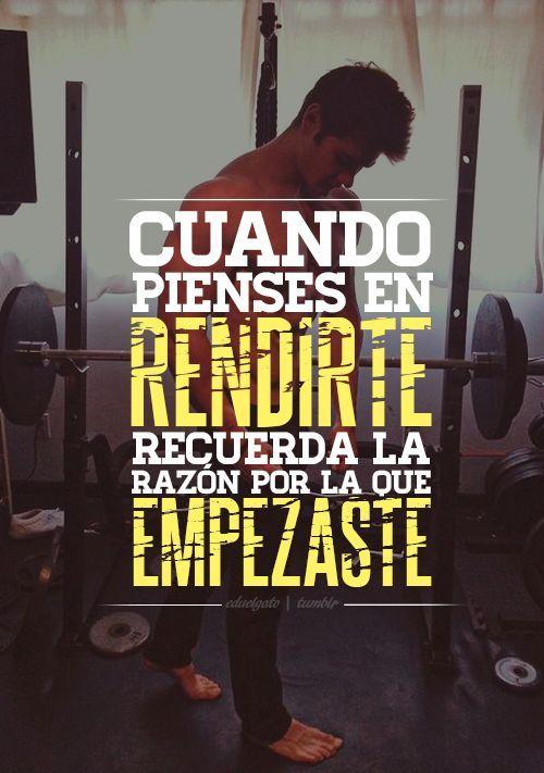 No te rindas. Sigue adelante pensando en tí! #Fitness