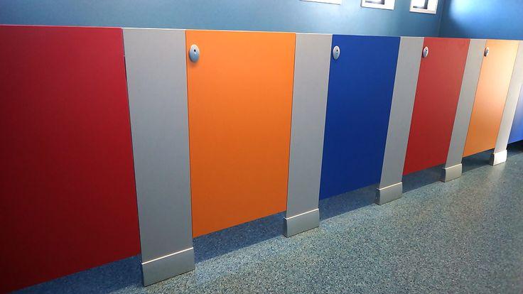 Half height toilet cubicles at Glenn Innes kohanga reo Childcare centre