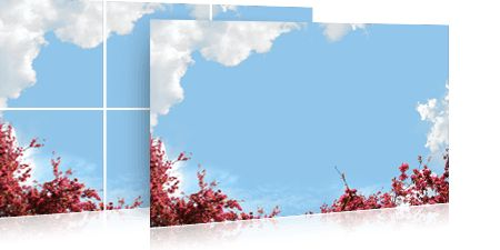 Wolkenplafond fotodesign: 'Blooming red sky'