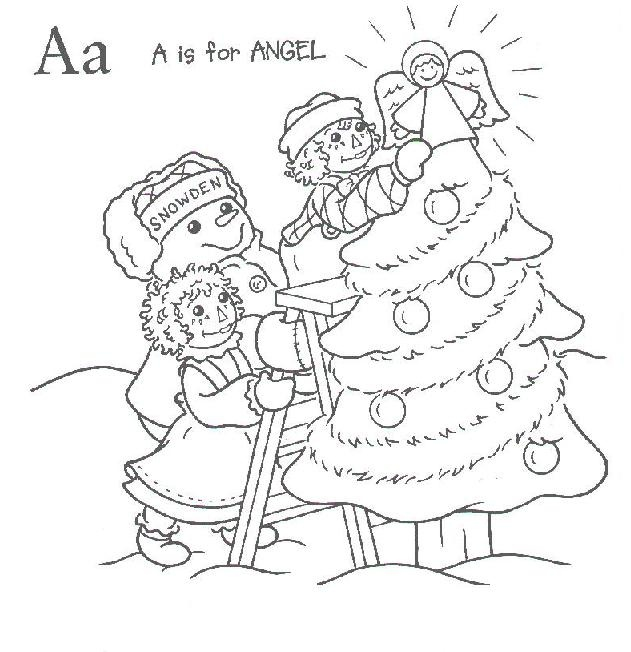 raggedy ann and andy christmas fun coloring book