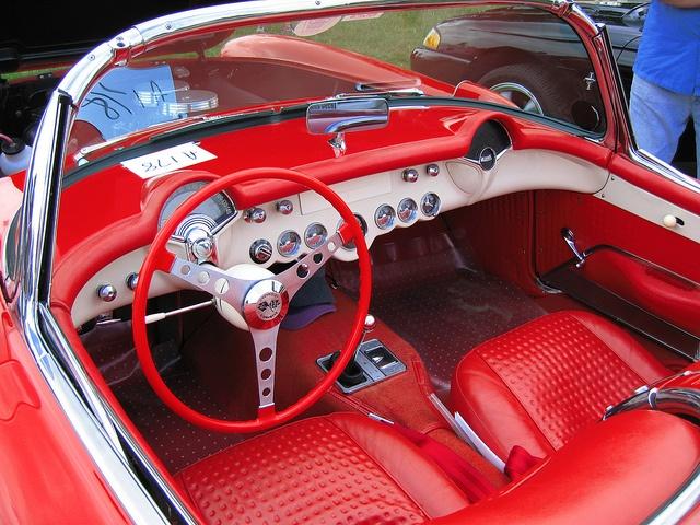 Chevrolet Corvette C1, interior & dash, c1956