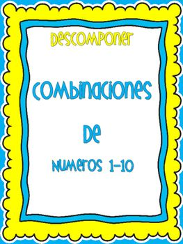 Decompose numbers 1-10 using different models (number bonds, ten frames, part/part/whole, and number sentences (vertical and horizontal). Included are pages for differentiated instruction. One set has pages with the number and where students can trace the whole number for each model.