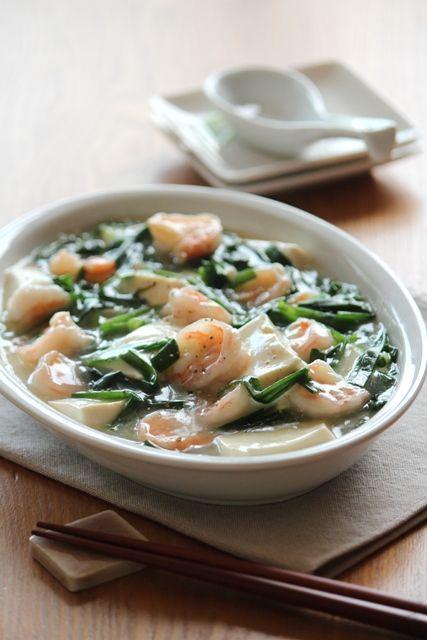 海老とお豆腐の旨煮