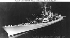 Proposed battleship USS Montana (BB-67).  Z