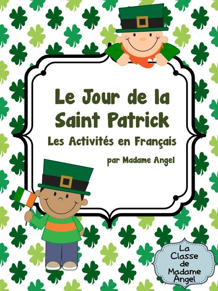 $ Saint Patrick's Day Literacy Activities in French.  Includes vocabulary cards and tons of fun activities!