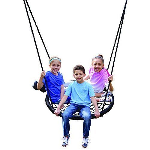 Outdoor Patio Swing Porch Portable Outside Small Seat Durable Adjustable Ropes  #Unbranded