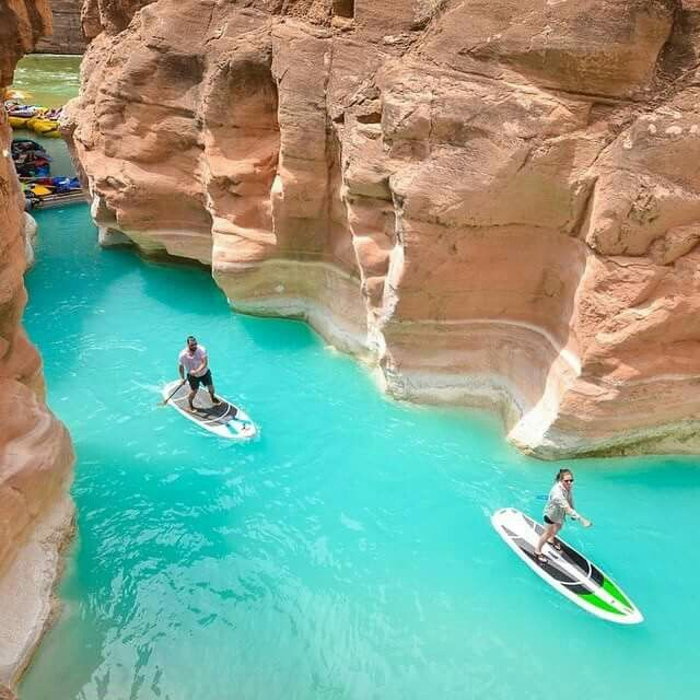 Paddle boarding lake  Havasu  Arizona