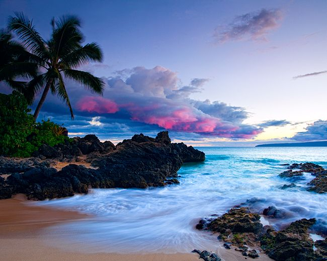 'secret beach' Makena Cove beach in Maui.  Literally took my breath away while standing there. i wanna go here!