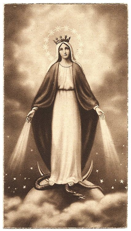 Our Lady of Grace Blessed Mother Virgin Mary by 12StarsVintage