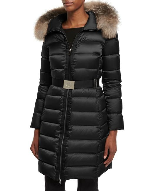 Black Tinuviel Quilted Puffer W/Fur Hood Trim Sold Out Puffy/Ski Coat | Moncler, Authenticity and Hoods