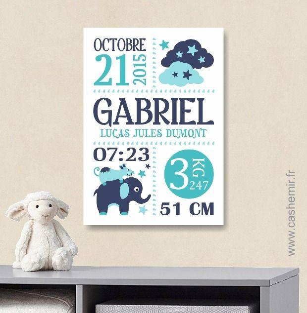 Cadeau de naissance bébé, stats de naissance, décoration chambre enfant garçon fille - Fichier Imprimable - n°2 : Décoration pour enfants par cashemir