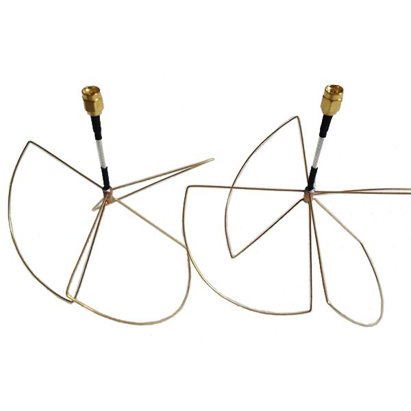 1.2G 3dB TX RX FPV Clover Antenna RP-SMA/SMA Male  1.2G 3dB TX RX FPV Clover Antenna RP-SMA/SMA Male Specification: Gain: 3 dB Frequency range: 1200 (MHz) Output impedance: 50 () Standing wave ratio: 1.5 (dB) Package included: 1 x TX antenna 1 x RX antenna  EUR 6.68  Meer informatie
