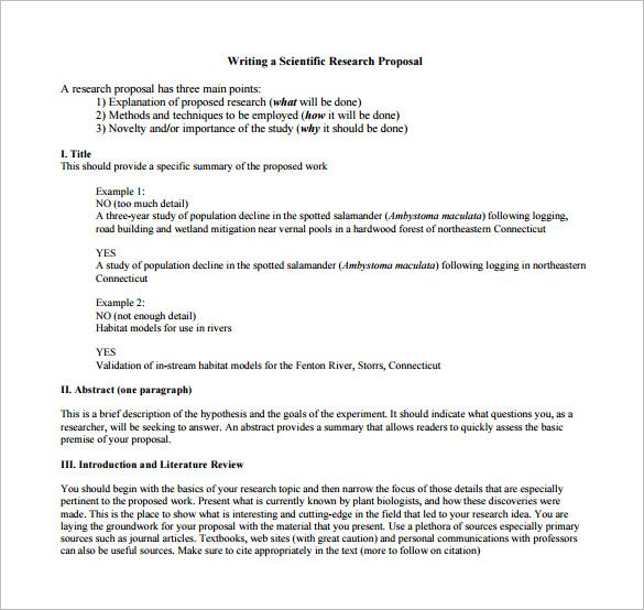 Sample Research Proposal Template Format For A Research