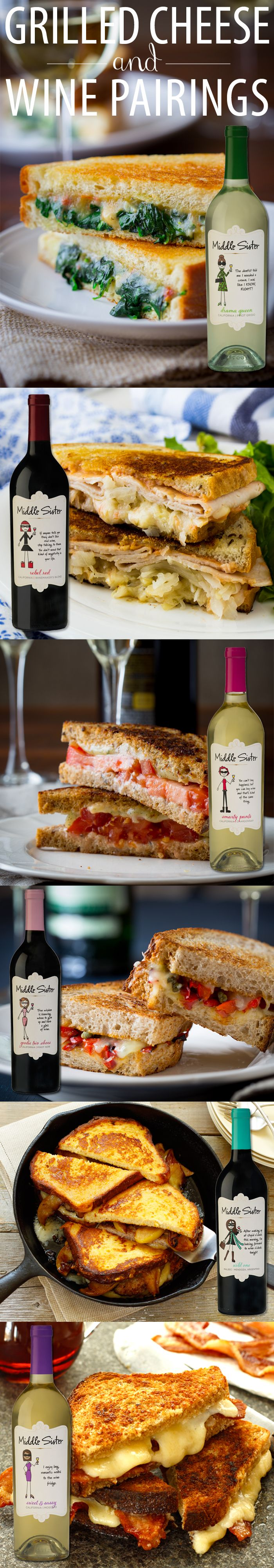 Grilled Cheese and Wine Pairings