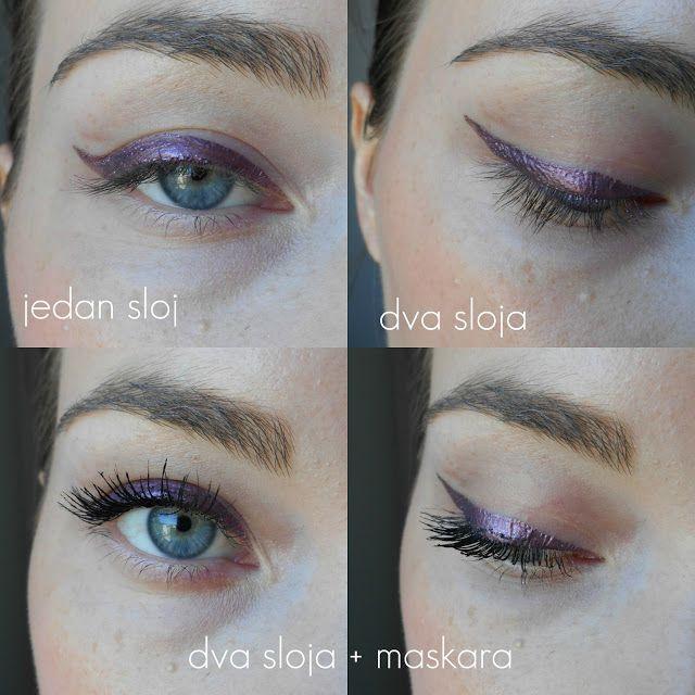 Avon Chrome Nail Powder: Avon - LIQUID CHROME - Eyeliner - Plum Dazzle
