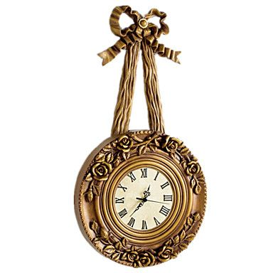2015 New Arrival European Living Room Gold Bowknot Silent Large Vintage Wall Clock 12Inch – USD $ 124.99