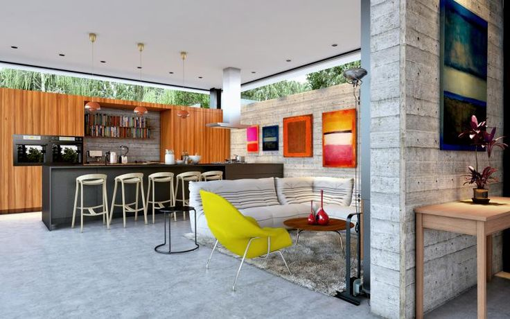 Neve Monosson House 3 - 3d rendering image of a single family house. Architect: Daniel Arev