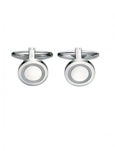 Men's Stainless Steel Round Cufflinks - Available at Onyx Goldsmiths