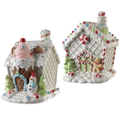 White Gingerbread House Christmas Decoration
