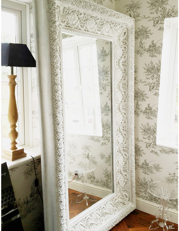 Love this white vintage floor mirror all things for White floor length mirror