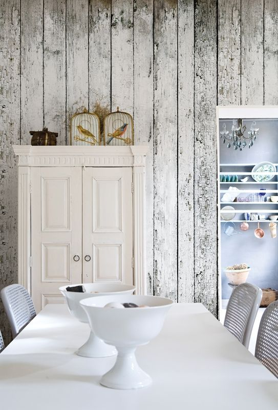 LOVE this!! Yes, this is wallpaper. So many applications for this - on the inside of a painted bookcase, armoire or rustic china cabinet, as an accent wall in a little boy's room, in a corner reading nook in cottage decor, as a wainscoat in a kitchen nook