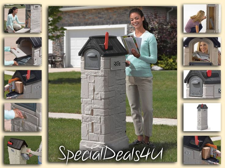 Large Secure Mailbox Locking Post Security Lockable Letter Mail Heavy Duty Lock #New
