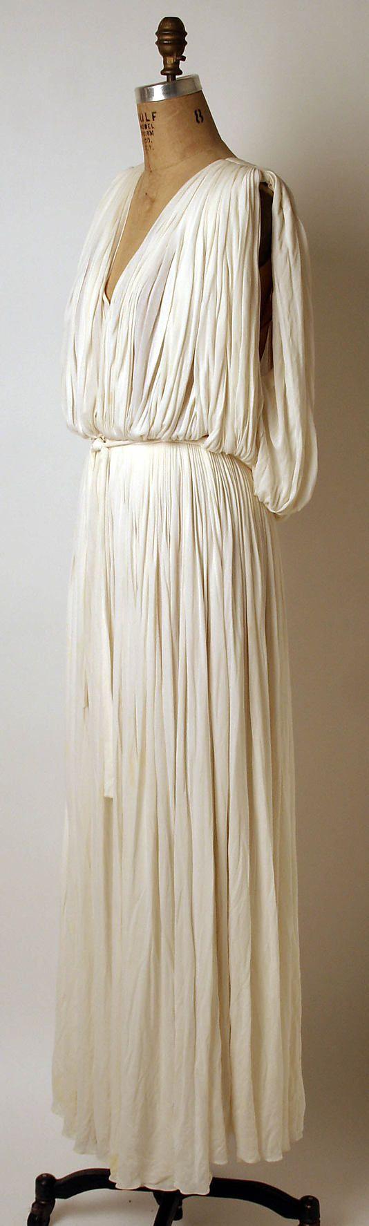 Evening dress Madame Grès (Alix Barton) (French, Paris 1903–1993 Var region) Date: ca. 1965 Culture: French Medium: silk
