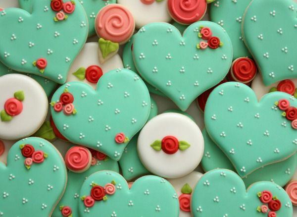 Día de San Valentín Galletas con Rosas