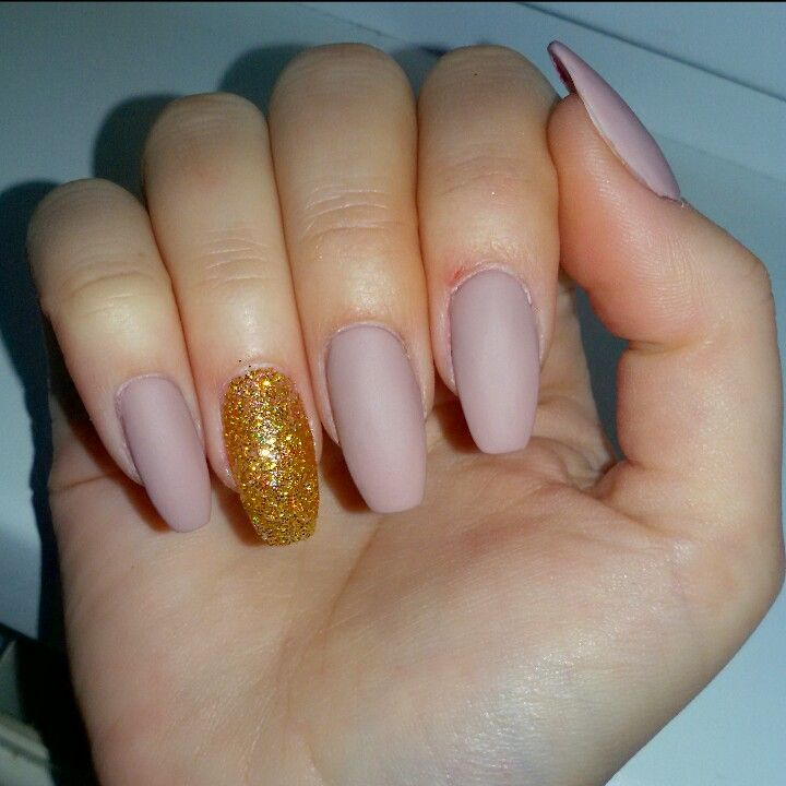 Matte nude acrylic nails