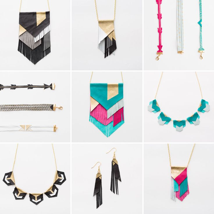 Whip up homemade leather fringe jewelry with this DIY kit.
