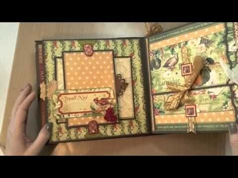 ▶ 8x8 12 Days of Christmas Mini-Album featuring Graphic45 - YouTube This is absolutely beautiful.