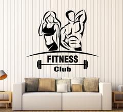 Vinyl Wall Decal Gym Fitness Club Sport Signboard Beautiful Body Stickers Unique Gift (1805ig)