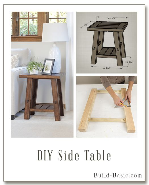 Build a DIY Side Table - Building Plans by @BuildBasic www.build-basic