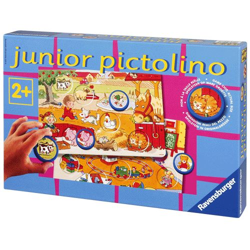 Dit leg- en rangschikspel is speciaal ontwikkeld voor kinderen vanaf 2 jaar en heeft extra grote speelstenen. Junior Pictolino stimuleert spelenderwijs concentratie, waarneming en taalontwikkeling. Afmeting: doos 33 x 22,5 x 5,5 cm. - Junior Pictolino