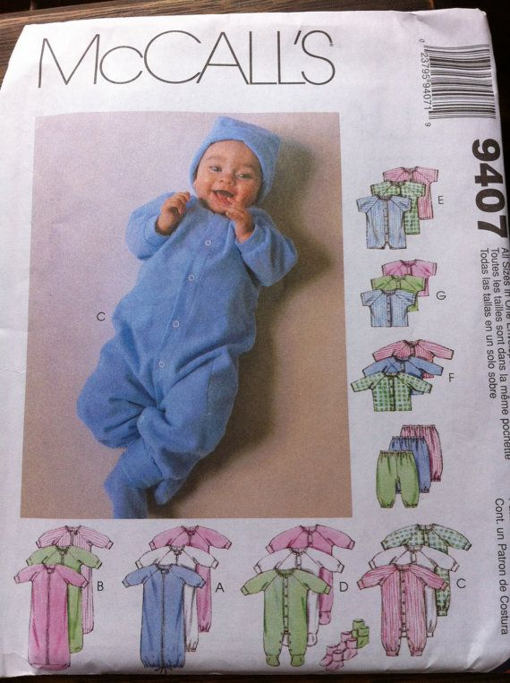 Mccalls Baby Pattern No 9407 Multiple Sizes By