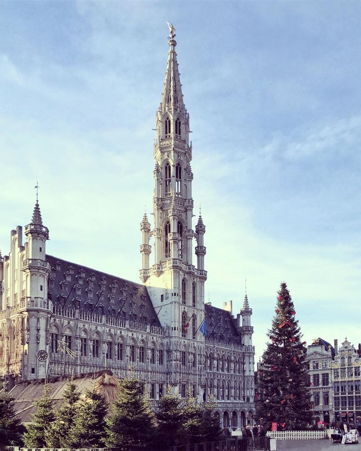 Brussels Town Hall during Christmas time