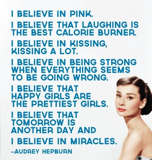 Audrey Hepburn Quote Motivational Quotes Audrey Hepburn Wall |Audrey Hepburn Quotes I Believe In Manicures