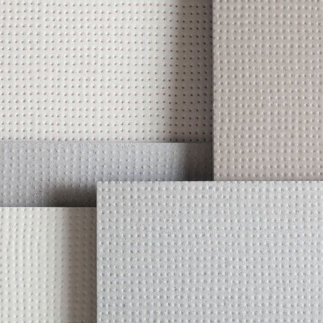 Tiny dimples and raised dots cover these ceramic tiles by French designers Ronan & Erwan Bouroullec