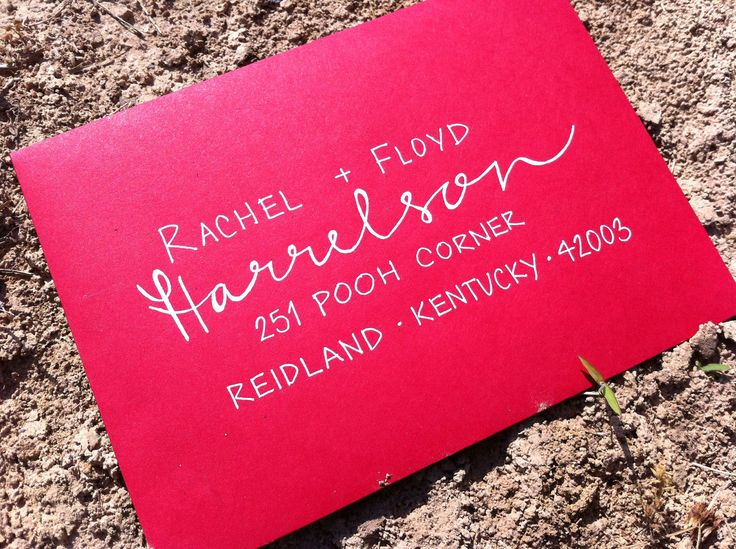Grey Snail Press/Calligraphy for Wedding Invitations Hand Lettered Envelopes calligrapher. $1.50, via Etsy.