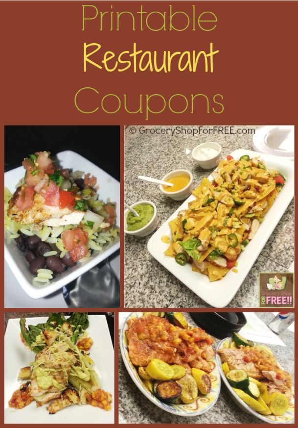 NEW Printable Restaurant Coupons!