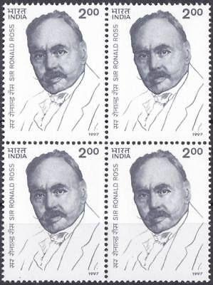 India 1997 Stamp Sir Ronald Ross Discovery of Malaria Parasite Nobel Prize MNH