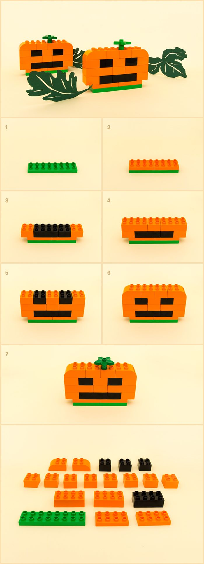Easy, no-stickiness LEGO® DUPLO® pumpkin - Articles - Family LEGO.com