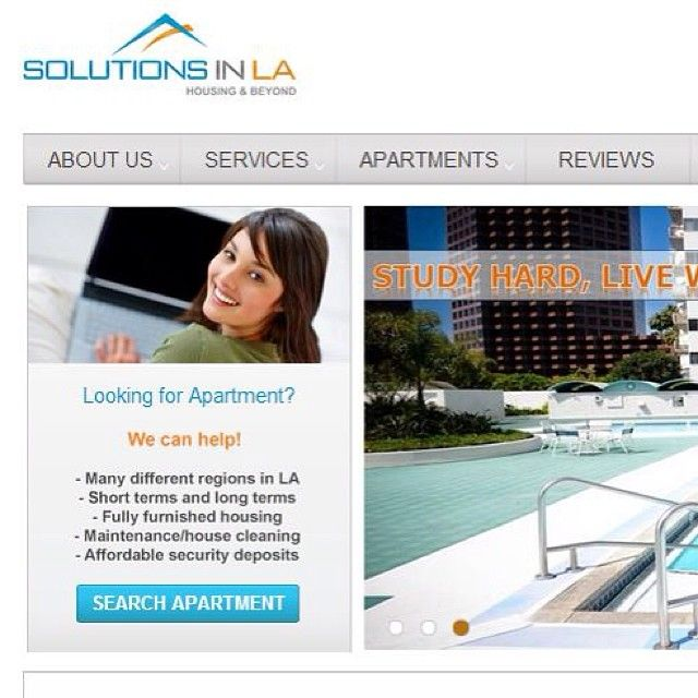 Wonderful Our New Website Is Now Live! We Hope You Find It Useful And Appealing And  Welcome Your Feedback. Go And Check It Out : Www.solutionsinla.com  #studenthousing ...
