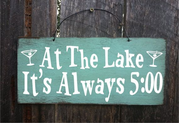 lake house decor lake signs lake decor lake by FarmhouseChicSigns