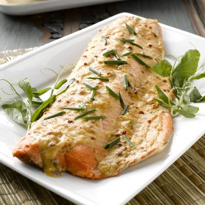 Great Grilled Alaska Salmon Side with Asian Seasoning
