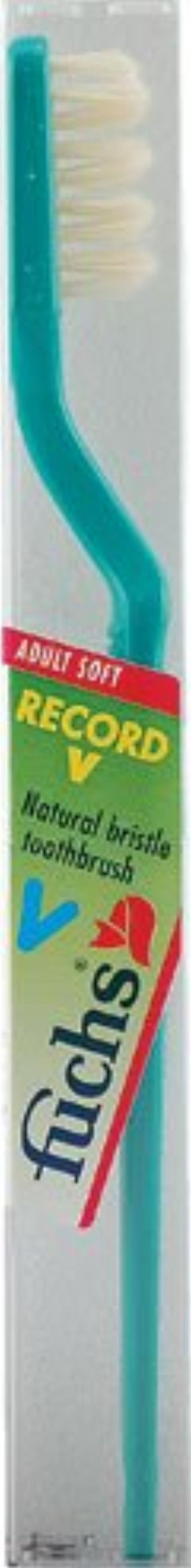 Fuchs Record V Adult Soft Natural Bristle Toothbrush -- 1 Toothbrush - Brought to you by Avarsha.com