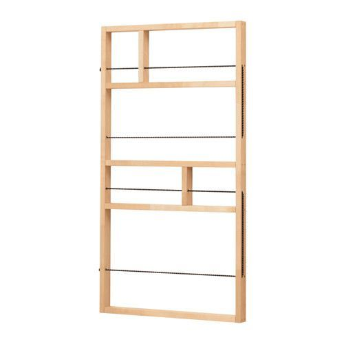 IKEA YPPERLIG Wall shelf Birch 54x100 cm A small and decorative storage solution that you can hang behind a door or in another narrow space.