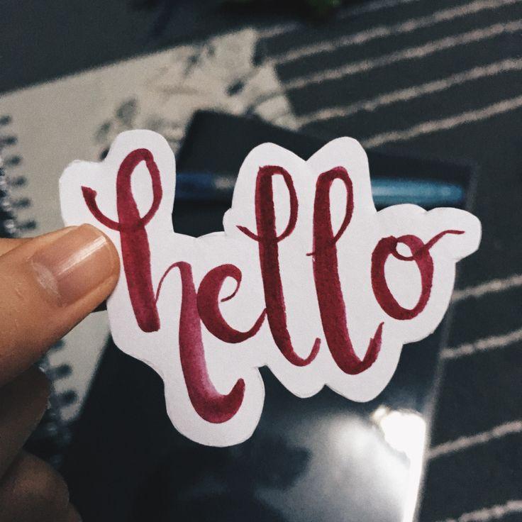 #brushlettering #hello #pentelbrush