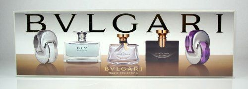 Bvlgari 5 Piece Miniature Perfume Travel Gift Set for Women by BVLGARI. $59.76. EDP. For Women. EDT. 5 Piece Set. Gift Set. This Bvlgari 5 Piece Boxed Travel Gift Set Includes: Omnia Crystalline 5ml EDT, BLV Eau De Parfum II 5ml EDP, Mon Jasmin Noir 5ml EDP, Jasmin Noir 5ml EDP, Omnia Amethyste 5ml EDT.   This very special gift set  makes a great gift for any of the women in your life.